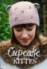 cupcake kitten hat tiny owl knits