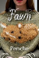 fawn poncho tiny owl knits