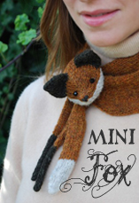 mini fox collar tiny owl knits