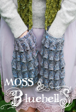 moss & bluebells pocket scarf tiny owl knits