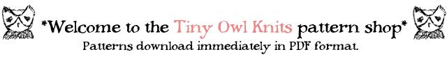 pattern shop tiny owl knits