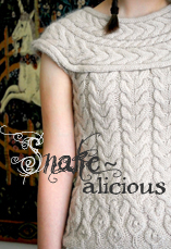 snakealicious sweater tiny owl knits