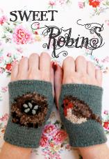 sweet robin wristees tiny owl knits