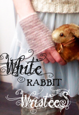 white rabbit wristees tiny owl knits