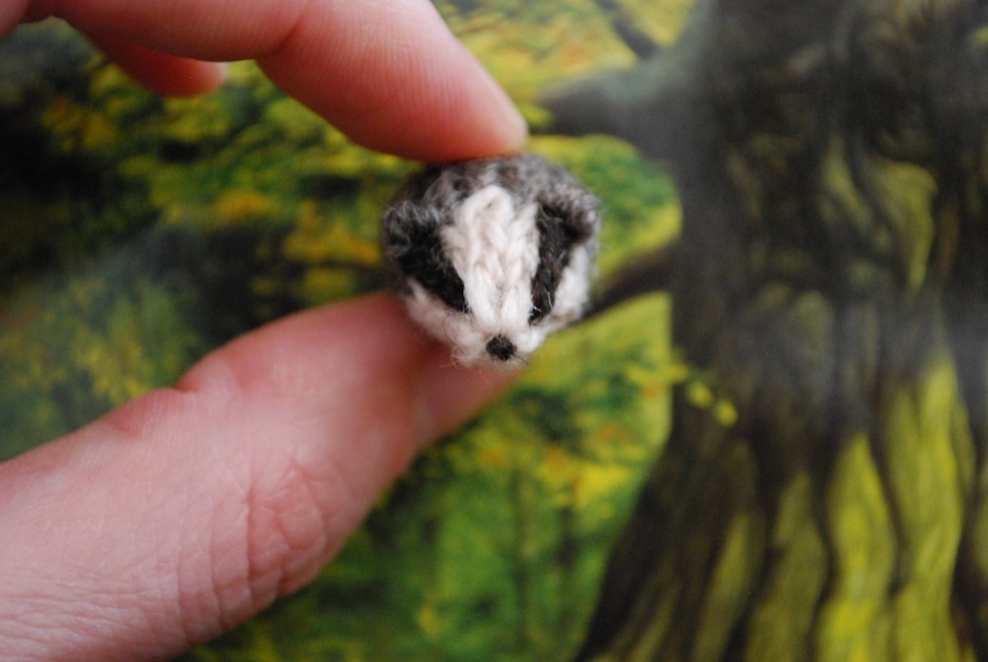 hufflepuff badger front tiny owl knits