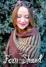 fern shawl a tiny owl knits pattern by stephanie dosen