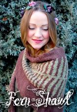 fern shawl a tiny owl knits pattern by stephanie dosen