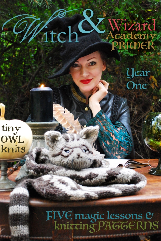 witch & wizard academy tiny owl knits