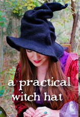 a practical witch hat - tiny owl knits