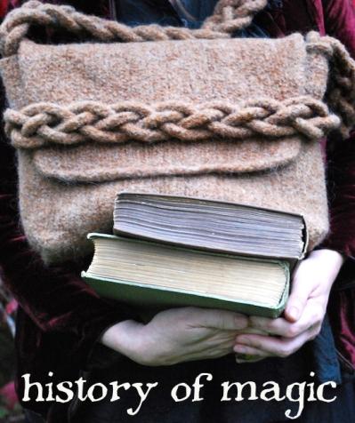 history of magic bookbag tiny owl knits