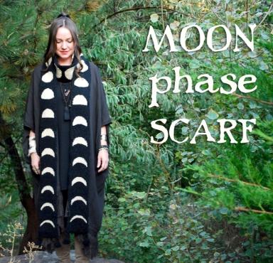 moon phase scarf tiny owl knits