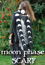 moon phase scarf widget